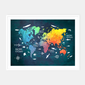 World map text art tank top live heroes world map text art plakaty w ramie thumbnail image gumiabroncs Images