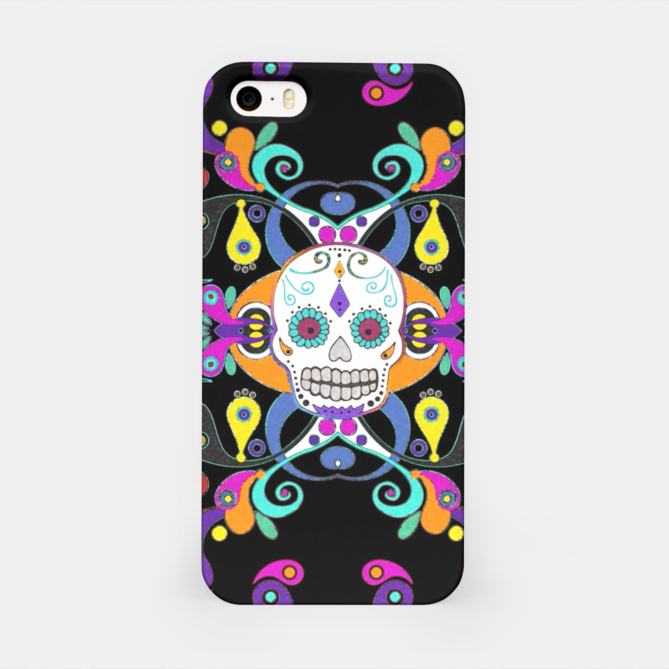 Foto Día De Los Muertos Skulls Ornaments Pattern multicolored iPhone-Hülle - Live Heroes