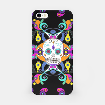 Día De Los Muertos Skulls Ornaments Pattern multicolored iPhone-Hülle Bild der Miniatur
