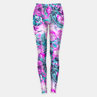 Thumbnail image of Tropical Garden Pink Leggings, Live Heroes