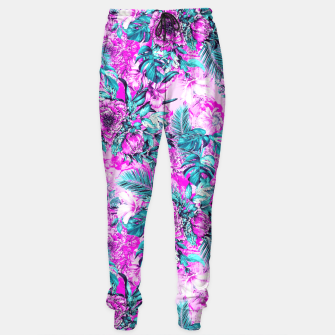 Thumbnail image of Tropical Garden Pink Sweatpants, Live Heroes