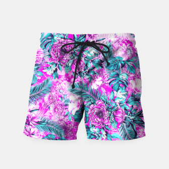 Thumbnail image of Tropical Garden Pink Swim Shorts, Live Heroes