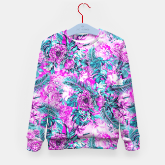 Thumbnail image of Tropical Garden Pink Kid's Sweater, Live Heroes