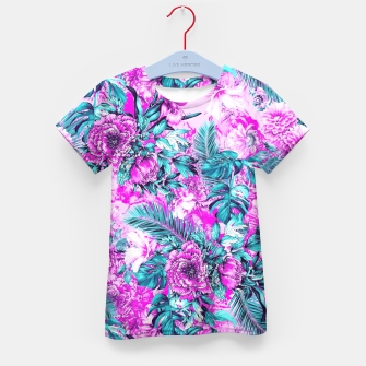 Thumbnail image of Tropical Garden Pink Kid's T-shirt, Live Heroes