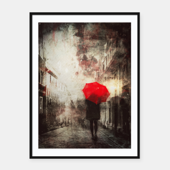 Thumbnail image of Red Umbrella Plakaty w ramie , Live Heroes