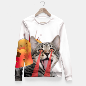 Thumbnail image of CAT ATTACK Fitted Waist Sweater, Live Heroes
