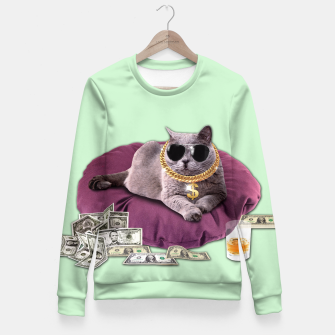 Thumbnail image of GANGSTA CAT Fitted Waist Sweater, Live Heroes