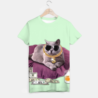 Thumbnail image of GANGSTA CAT T-shirt, Live Heroes