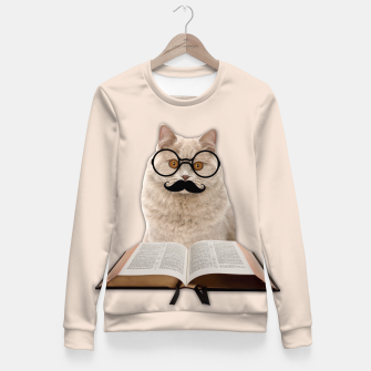 Thumbnail image of INTELIGENT CAT Fitted Waist Sweater, Live Heroes