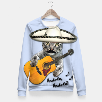 Miniatur MEXICAN CAT Fitted Waist Sweater, Live Heroes