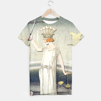 Thumbnail image of JUSTICE TAROT CARD T-shirt, Live Heroes