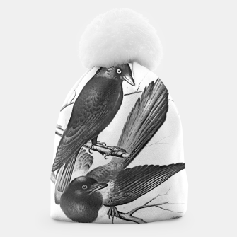 Miniatur Vintage magpie and jack daw Beanie, Live Heroes