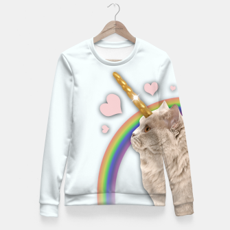 Thumbnail image of CAT UNICORN Fitted Waist Sweater, Live Heroes