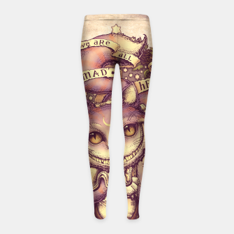 Thumbnail image of Cheshire Cat Leggings para niña, Live Heroes