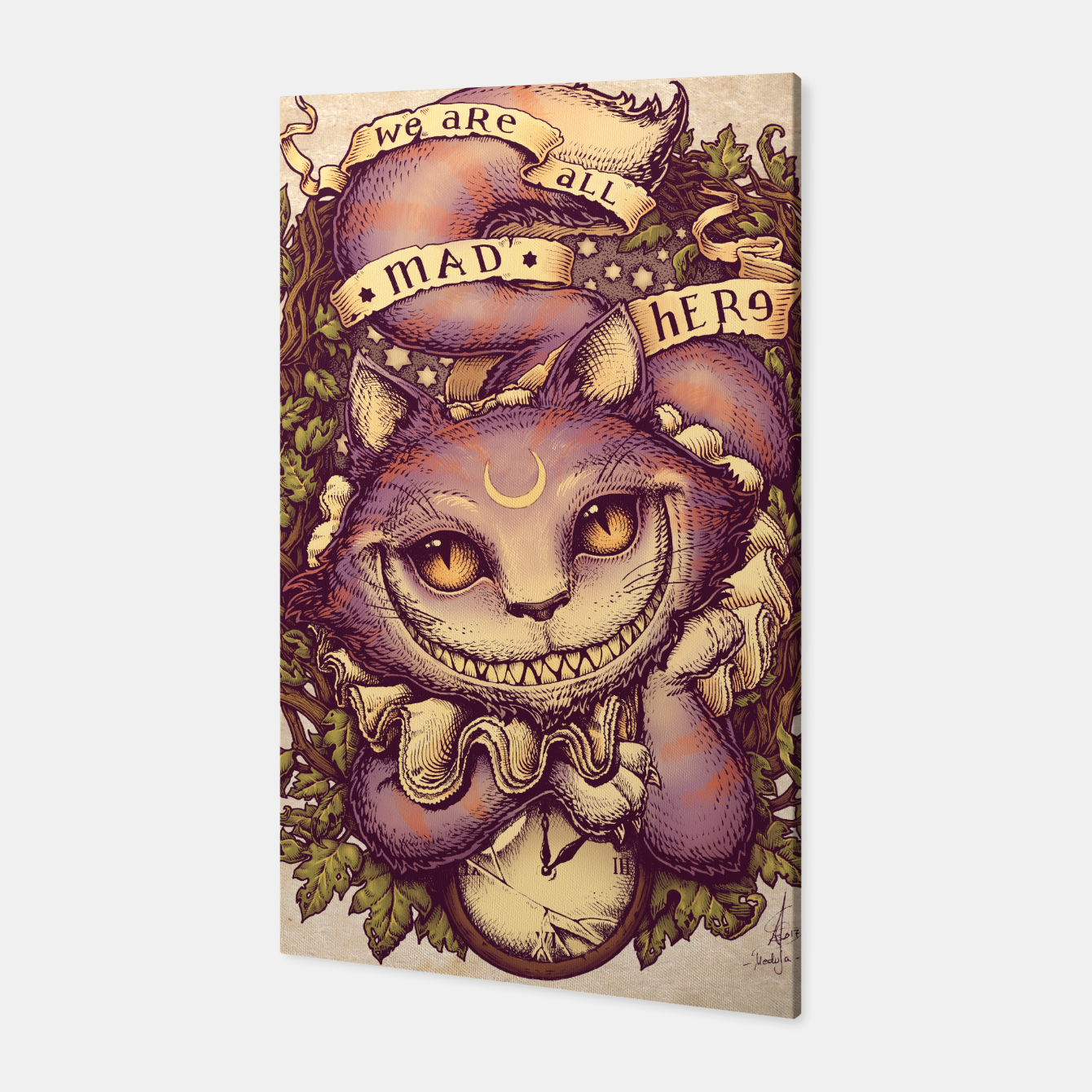 Image of Cheshire Cat Canvas - Live Heroes