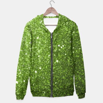Miniaturka Beautiful light green greenery glitter sparkles Zip up hoodie, Live Heroes