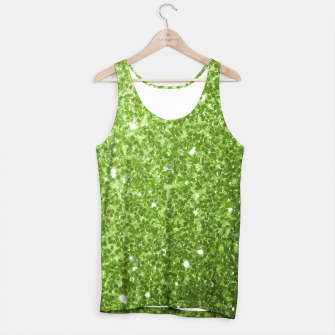Miniaturka Beautiful light green greenery glitter sparkles Tank Top, Live Heroes