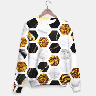 Thumbnail image of Marble, Gold Leaf Honey Comb Pattern Sweater, Live Heroes