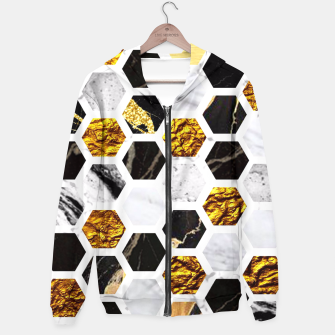Thumbnail image of Marble, Gold Leaf Honey Comb Pattern Hoodie, Live Heroes