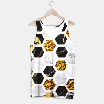 Thumbnail image of Marble, Gold Leaf Honey Comb Pattern Tank Top, Live Heroes