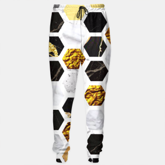 Thumbnail image of Marble, Gold Leaf Honey Comb Pattern Sweatpants, Live Heroes