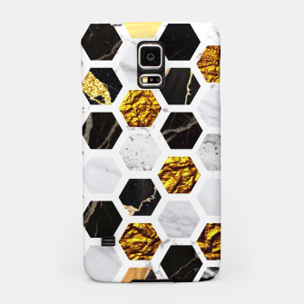 Thumbnail image of Marble, Gold Leaf Honey Comb Pattern Samsung Case, Live Heroes