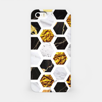 Thumbnail image of Marble, Gold Leaf Honey Comb Pattern iPhone Case, Live Heroes
