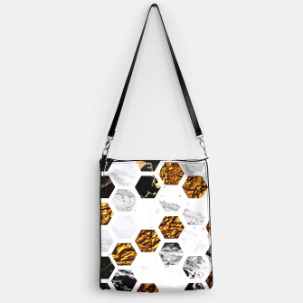 Thumbnail image of Marble, Gold Leaf Honey Comb Pattern Handbag, Live Heroes