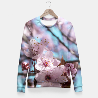 Thumbnail image of Sakura. Cherry Blossom photography Fitted Waist Sweater, Live Heroes