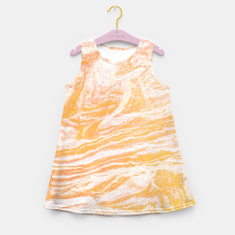 Golden Vibes Girl's Summer Dress thumbnail image