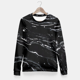 Thumbnail image of Black Marble Space Fitted Waist Sweater, Live Heroes