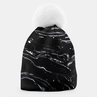 Thumbnail image of Black Marble Space Beanie, Live Heroes