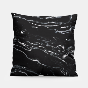 Thumbnail image of Black Marble Space Pillow, Live Heroes