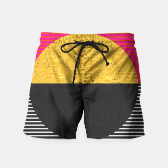 Thumbnail image of Fashion and golden pattern Swim Shorts, Live Heroes
