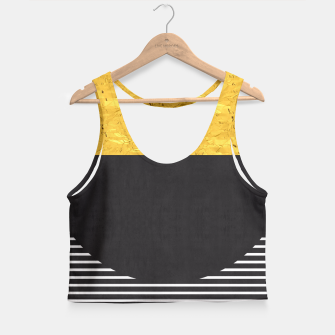 Miniaturka Fashion and golden pattern Crop Top, Live Heroes