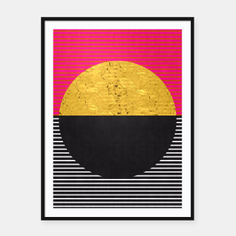 Miniaturka Fashion and golden pattern Framed poster, Live Heroes