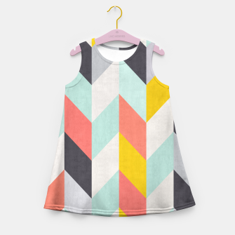Thumbnail image of Colorful Chevron Girl's Summer Dress, Live Heroes