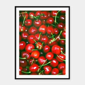Thumbnail image of Fresh Cherries Framed poster, Live Heroes