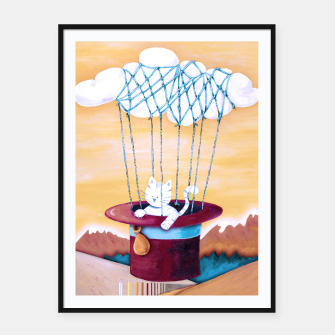 Thumbnail image of The cat traveling in dreams Cartel con marco, Live Heroes
