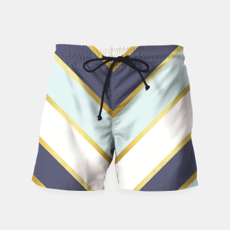Thumbnail image of Golden chevron and blue Swim Shorts, Live Heroes