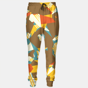 Thumbnail image of geometric graffiti drawing and painting abstract in brown yellow blue and orange Sweatpants, Live Heroes
