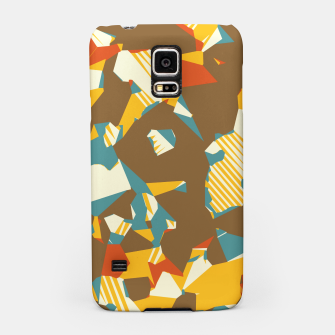 Thumbnail image of geometric graffiti drawing and painting abstract in brown yellow blue and orange Samsung Case, Live Heroes