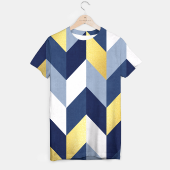 Thumbnail image of Golden chevron and blue T-shirt, Live Heroes