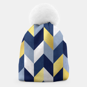 Thumbnail image of Golden chevron and blue Beanie, Live Heroes