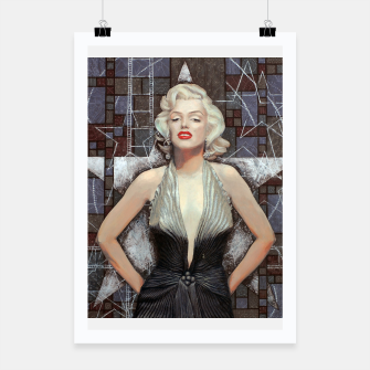 Thumbnail image of Marilyn Monroe, Hollywood star, celebrity portrait art Poster, Live Heroes