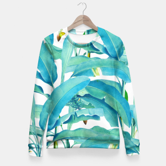 Thumbnail image of Banana Forest Fitted Waist Sweater, Live Heroes
