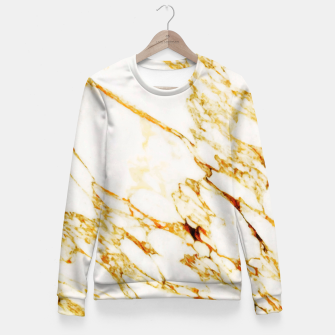 Thumbnail image of Gold Marble Fitted Waist Sweater, Live Heroes