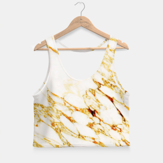 Thumbnail image of Gold Marble Crop Top, Live Heroes