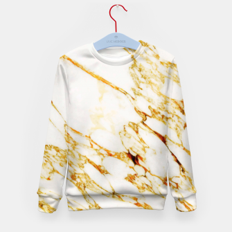 Thumbnail image of Gold Marble Kid's Sweater, Live Heroes