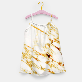 Gold Marble Girl's Dress thumbnail image